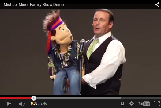 Michael and Screetch the Puppet